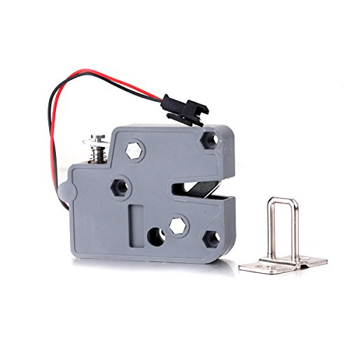 Atoplee DC 12V 0.43A/2A Mini Electric Bolt Lock for Cabinet Small Cabinet Lock/Solenoid Door Lock,2pcs (DC 12V,2A)