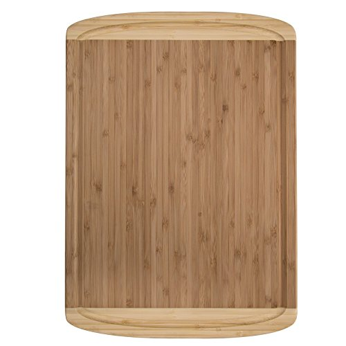 bamboo extra large cutting board and serving tray with juice groove measures 18 x 12 11street. Black Bedroom Furniture Sets. Home Design Ideas