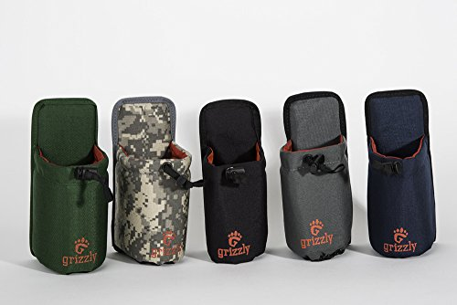 Grizzly SNAKE RIVER Hunting/Fishing Adjustable Water Bottle Holder (DIGITAL CAMO) Shooting, Clay Shooting, Birding, Canoeing, Dog Walking, Camping, Attach to Belts or Grizzly Dakota Utility Belt by Wild Grizzly Snake River Water Bottle Holder (Image #4)