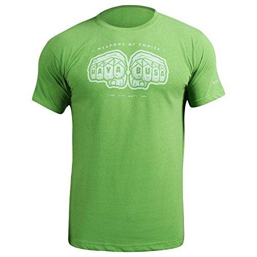 Hayabusa Weapons of Choice T-Shirt, Green, Large (Hayabusa T Shirt)