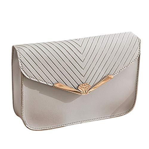 Ansenesna Quadrata Moda A Pelle Tracolla Donna In Bag Gray Piccola Messenger Da Borsa rqwvtPr