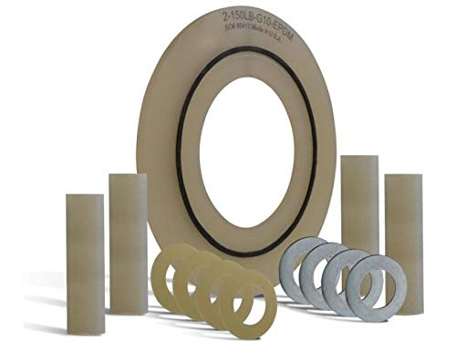 8'' 600# LINEBACKER FLANGE INSULATION KIT, COMPLETE WITH G10 GASKET WITH TEFLON ORING, DOUBLE G10/ZPS WASHERS, G10 SLEEVES