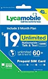 Lycamobile $19 Plan Sim Card Include 3 Month Service