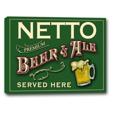 netto-beer-ale-stretched-canvas-sign