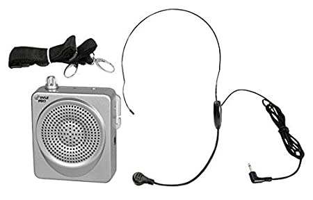 Pyle-Pro Pwma50s 50-Watts Portable Waist-Band Portable Pa System with Headset Microphone, Rechargeable Batteries (ColorSilver) Sound Around