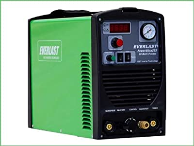 2016 Everlast PowerUltra 205P 200a Tig Stick Pulse 50a Plasma Cutter Multi Process Welder Dual Voltage 110/220v
