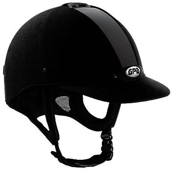 Gpa New Classic Velvet Onglet Casque 55 Cm Noir Amazonfr Sports