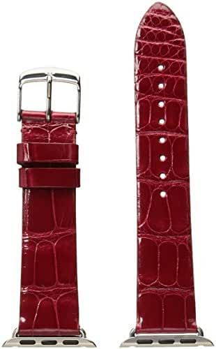 MICHELE MS38AB010622 38mm Apple Strap Leather Alligator Red Watch Strap