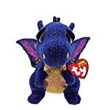 Ty 9' Saffire Medium Blue Dragon Beanie Boos Plush Stuffed Animal w/ Heart Tags