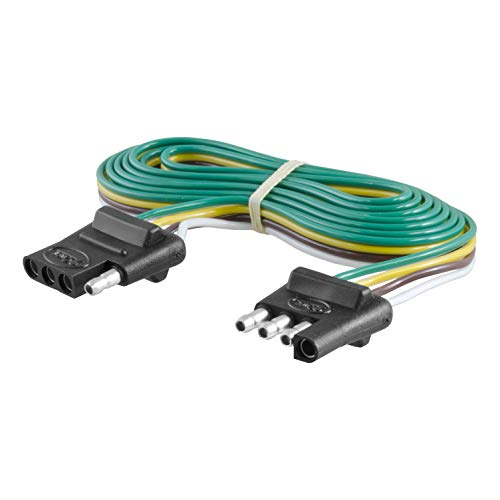 CURT 58050 Vehicle Side and Trailer Side 4-Way Trailer Wiring Harness with 72-Inch Wires, 4-Pin Trailer - Trailer Light Connector