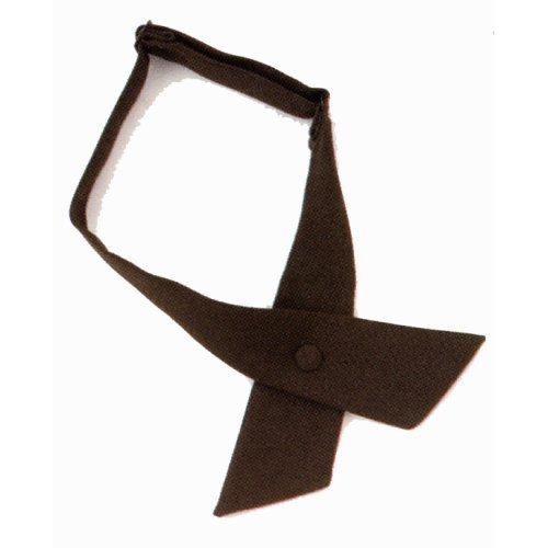 HWC LADIES Crossover Tie with Snap Closure BLACK, Crossing Guard, Uniform Tie