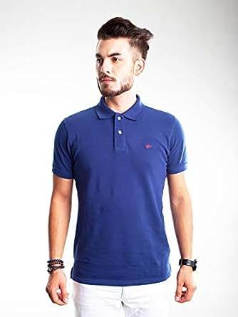 Slim Fit Polo Shirt for Men - Blue