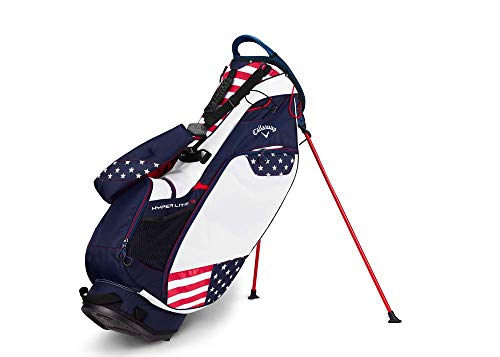 Callaway Golf 2018 Hyper Lite 3 Stand Bag, Red/White/Blue, Double Strap
