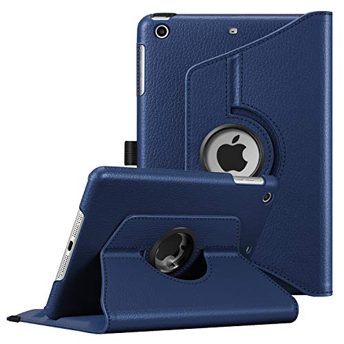 Fintie Rotating Case for iPad Mini 3/2 / 1-360 Degree Rotating Smart Stand Protective Cover with Auto Sleep/Wake for iPad Mini 1 / iPad Mini 2 / iPad Mini 3, Navy