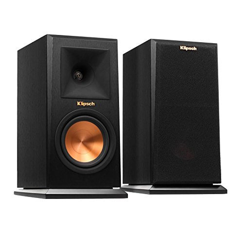 Klipsch RP-150M Bookshelf Speaker – Ebony, Pair (Certified Refurbished)