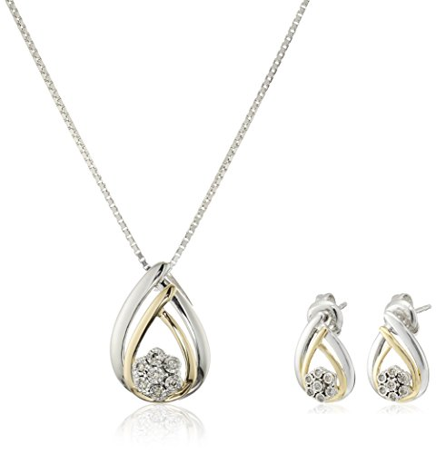 Sterling Diamond Miracle Earrings Necklace