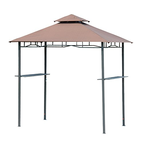 Outdoor 8FT Double-tier BBQ Grill Canopy Barbecue Shelter...