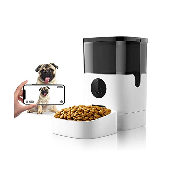 Apexto 2.4G Wi-Fi Automatic Pet Feeder with Camera 1080p HD Video for Dog Cat Smart Pet Camera Feeder Pet Monitor for…