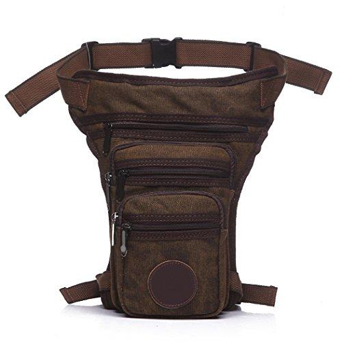 Fansport Leg Bag Drop Bag Multi Purpose Adjustable Canvas Leg Pack Tactical Bag for Men