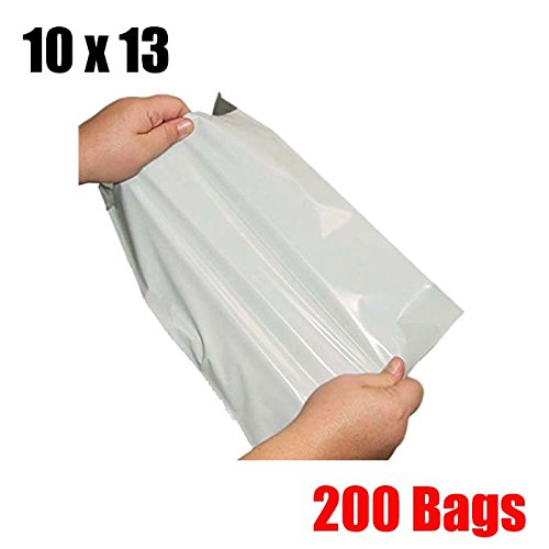 200 Poly Mailers - iMBAPrice 200 10x13 WHITE POLY MAILERS ENVELOPES BAGS 10x13 (Total 200 Bags)