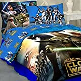 Star Wars Clone Bedding Set - Storm Troopers Comforter Sheets - Twin Bed