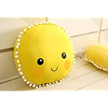 Cute Sun Smile Face Pattern Cushion Baby Pillow Toys Sleeping Dolls Kids Room Bed Sofa Decoration Gift