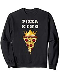 a6597eba27 Funny Pizza Gift Pizza King Chef Pizza Matching King Queen Sweatshirt