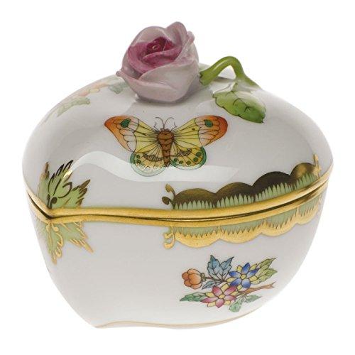 Herend Queen Victoria Heart Bonbon Figurine with -