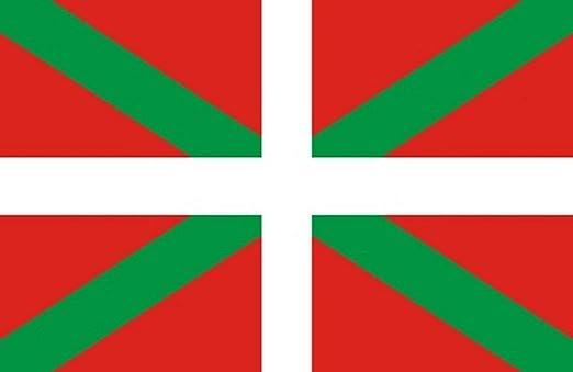 Durabol Bandera de Pais Vasco Comunidades autónomas de España 60*90 cm SATIN 2 anillas metálicas fijadas en el dobladillo: Amazon.es: Jardín