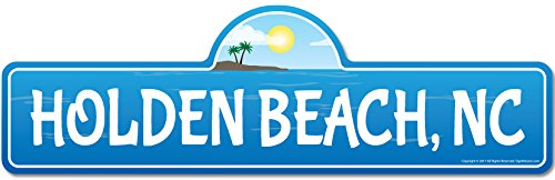 - Holden, NC North Carolina Beach Street Sign | Indoor/Outdoor | Surfer, Ocean Lover, Décor for Beach House, Garages, Living Rooms, Bedroom | Signmission Personalized Gift