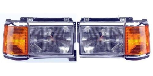 Go-Parts PAIR/SET OE Replacement for 1987-1991 Ford Bronco Front Headlights Headlamps Assemblies Front Housing/Lens / Cover - Left & Right (Driver & Passenger) Side for Ford Bronco