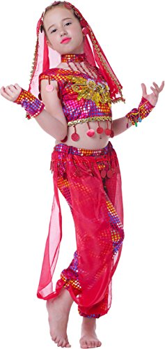 Dance Costumes Model (Seawhisper Kid's Performance India Costume School Show Outfit Girl Halloween Costumes)