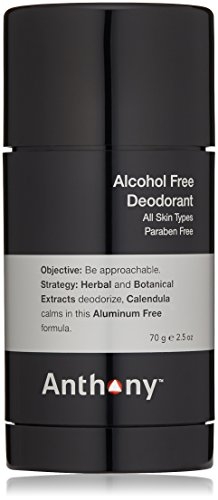 Anthony Logistics for Men Alcohol Free Deodorant 2.5 oz
