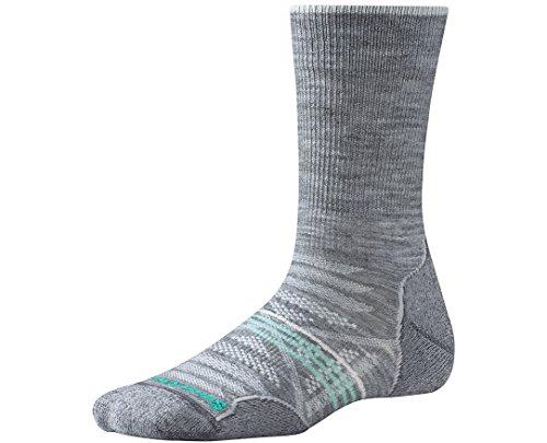 Smartwool Women's PhD Outdoor Light Crew Socks (Light Gray) Large