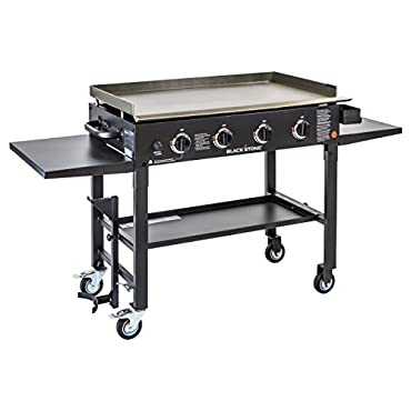 Blackstone 36 inch Outdoor Flat Top Gas Grill Griddle Station 4-burner Propane Fueled Restaurant Grade Professional Quality