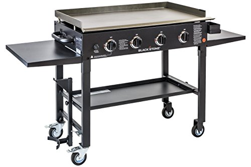 Blackstone 1554 Station-4-burner-Propane Fueled-Restaurant Grade-Professional 36 inch Outdoor Flat Top Gas Grill Griddle Station-4-bur, 36