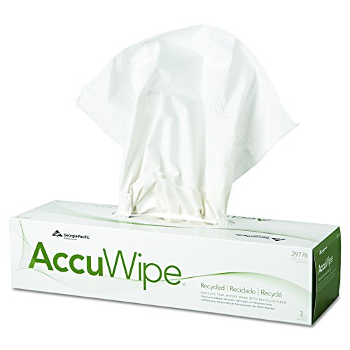 70 Count Packs (AccuWipe 29778/03 White Recycled 3-Ply Delicate Task Wiper, 16.7