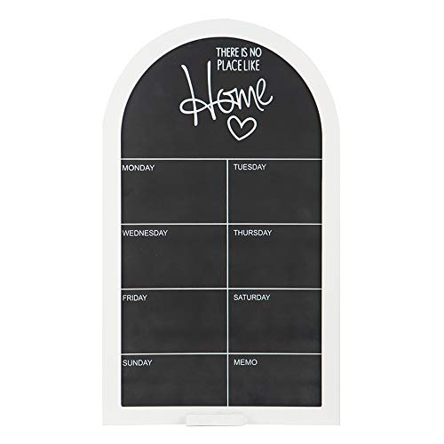 (TheJD Blackboard Monthly Planner Vintage Framed Chalkboard Decorative Chalk Board for Rustic Wedding Signs, Kitchen Pantry & Wall Decor_002)