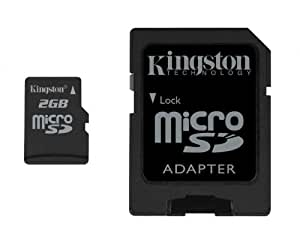 Kingston 2 GB microSD Flash Memory Card SDC/2GB