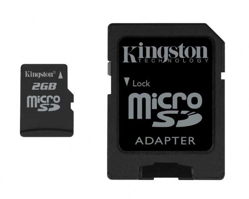 (Kingston 2 GB microSD Flash Memory Card SDC/2GB)