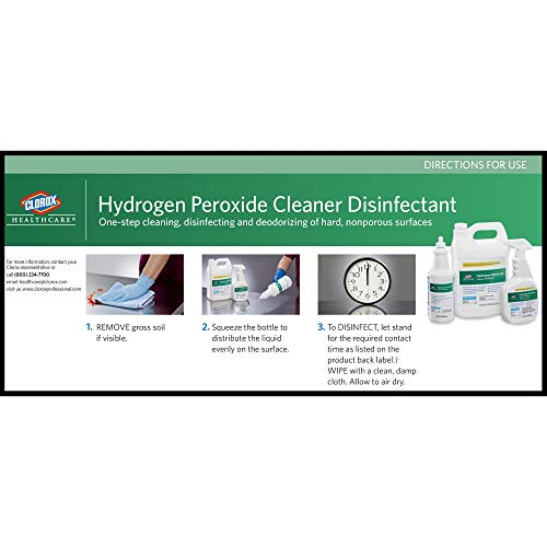 Clorox Healthcare Hydrogen Peroxide Cleaner Disinfectant Refill, 128 Ounces