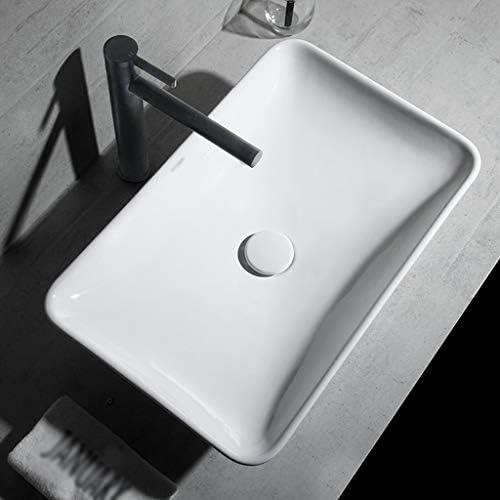 BoPin (タップなし)バスルームの洗面台、矩形のセラミックカウンター流域家庭バニティ単一流域、2つのサイズの数 ベッセルシンクシンク (Size : 70X40X14cm)