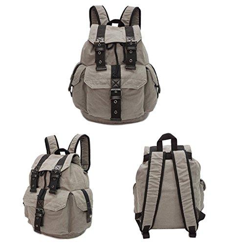 Sucastle Retro Tasche lässig Tasche Schultertasche Tragetasche Sucastle Farbe: grau Größe: 38x30x18cm