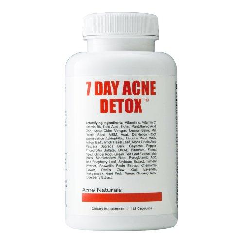 7 jours acné Detox - Débarrassez-vous de l'acné rapide - supplément naturel pour se débarrasser des toxines nocives qui causent l'acné - Acné éliminer, boutons et points noirs de nettoyage et de détoxification
