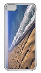 Customized iphone 5C PC Transparent Case - The Great Dune Of Pyla France Personalized Cover