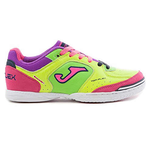 Zapatilla de fútbol sala Joma Top Flex Volt-Green-Pink Volt-Green-Pink