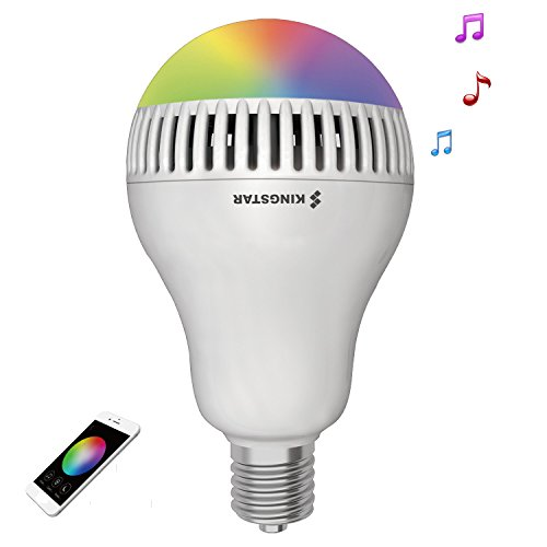 Kingstar Smart RGB Color Changing Music Ball LED Light E26 / E27 Bulb Built-in Bluetooth Speaker Remote Controled Via App Plays Music Lights