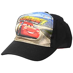 Disney Boys' Big Cars Lightning Strikes Baseball Cap, Multi, One Size