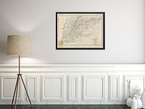 1920 Map New Jersey|Essex|Montclair The Price & Lee Co's New of Montclair, Glen Ridge and Bloomf|Vintage Fine Art Reproduction|Ready to Frame (Homes For Sale In Cedar Grove Nj)