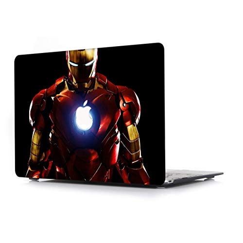 Hard Case for Apple MacBook Air 13.3 Inch (Old) Model A1466/A1369 – L2W Laptop Computers Accessories Plastic Smooth Print Protective Creative Design Cover Iron Man